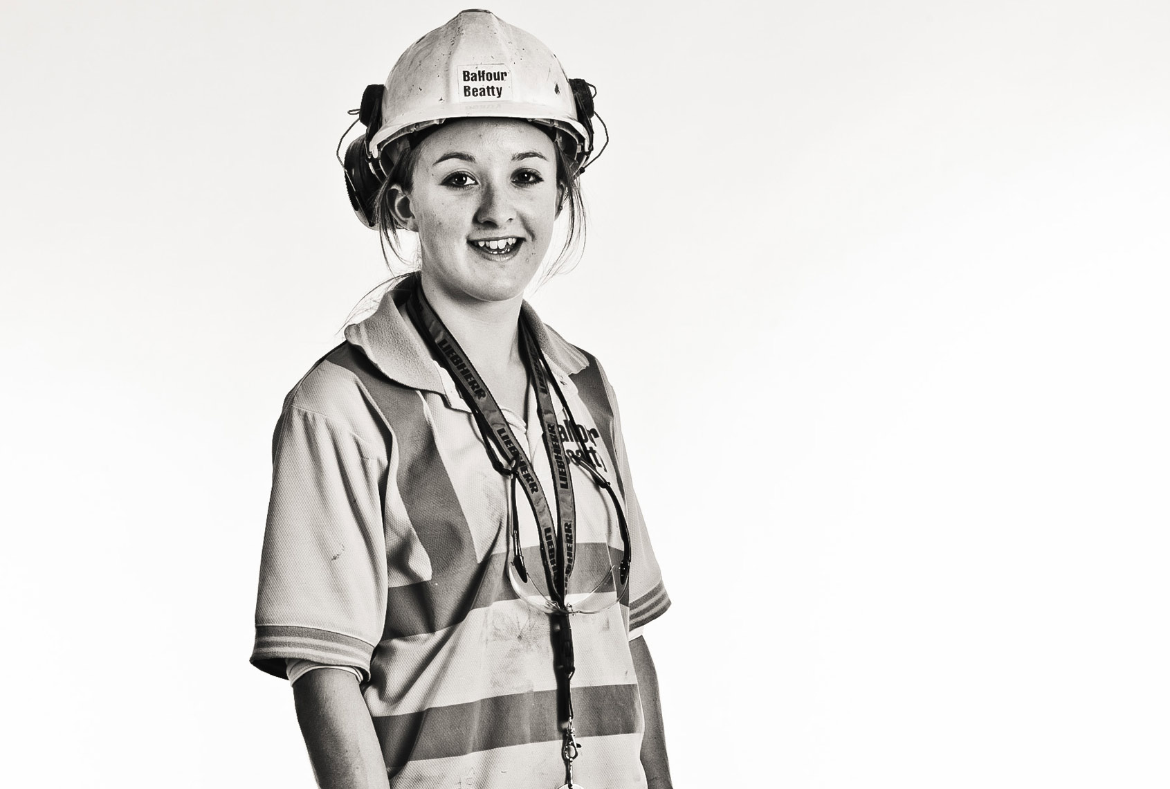 Young woman in PPE