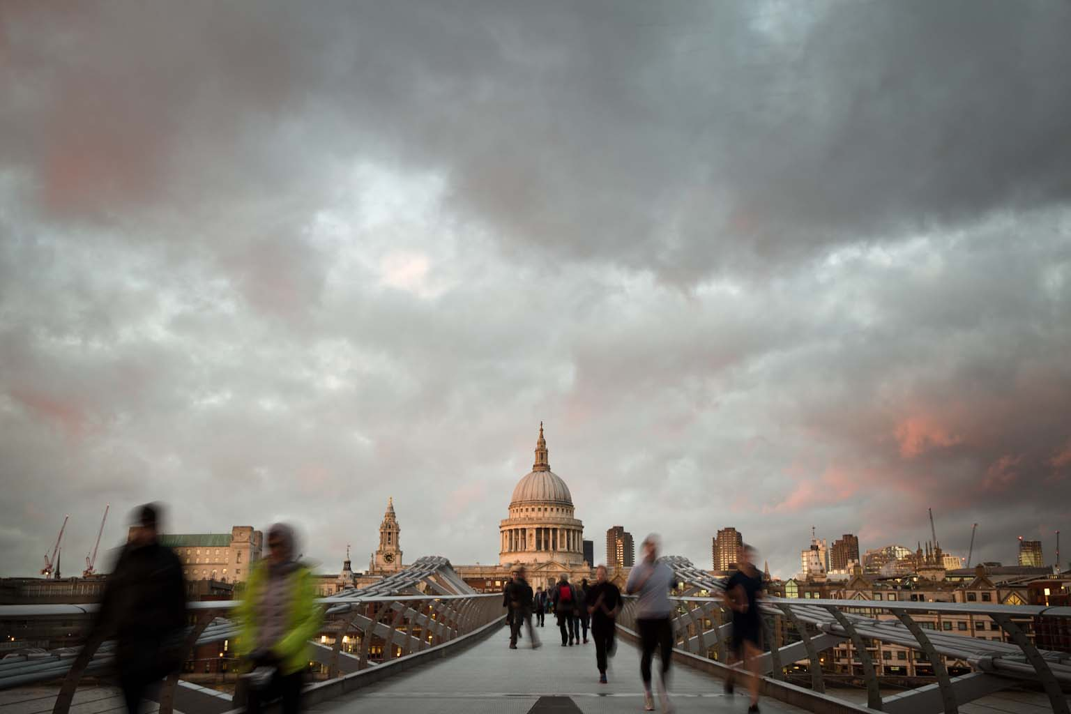 St Pauls from footbridge