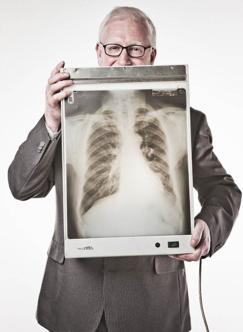 Older man with x-ray