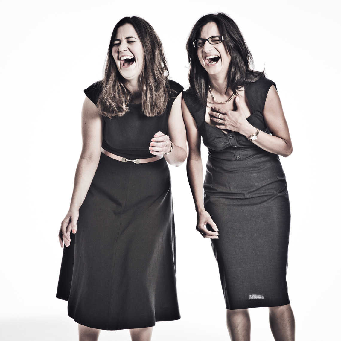 Laughing office women